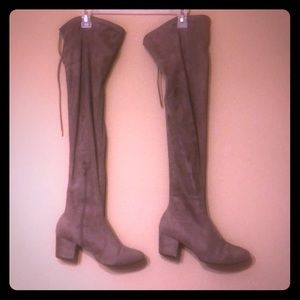 Qupid over the knee boot - tan size 9